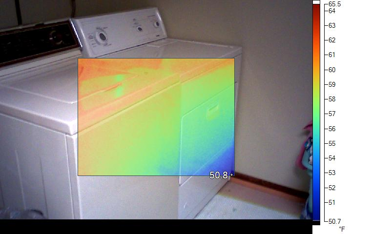 thermal image of dryer
