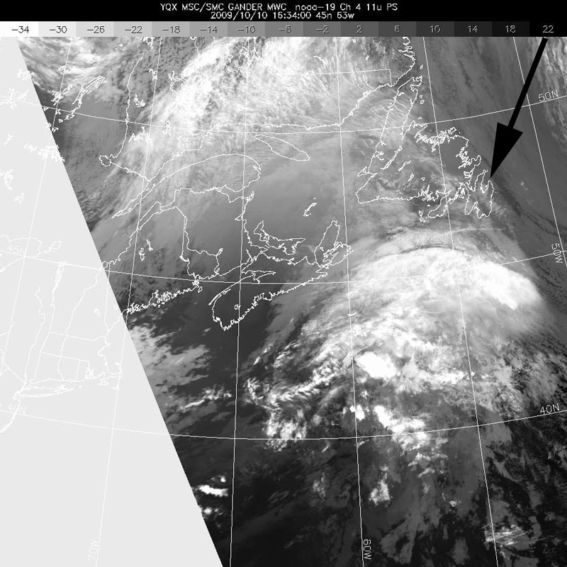 Satellite image Atlantic Canada